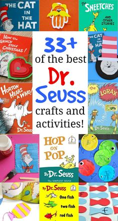 Seuss Crafts and Activities + The Best Dr. Seuss Books to Read Dr. Seuss Crafts and Activities + The Best Dr. Seuss Books to Read,library things Dr. Seuss Crafts and. Dr. Seuss, Dr Seuss Art, Dr Seuss Crafts, Dr Seuss Week, Dr Seuss Activities, Preschool Crafts, Preschool Activities, Kid Crafts, Preschool Classroom