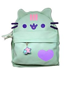 Officially Licensed Pusheen Character Cat Face Mint Mini ... Take Pusheen with you wherever you go! Mini mint green backpack is perfect for you. Use it for school, shopping, plans with friends. Measures about 12 x 10 x 4 inches, weighs 1 pound. Has adjustable straps and zipper front pocket. #pusheen https://www.amazon.com/dp/B078XNZMBQ?m=A1WRMR2UE5PIS8&ref_=v_sp_detail_page