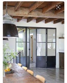 light and bright, space saving concertina doors, ensuite Steel Doors And Windows, The Doors, Metal Windows, Interior Architecture, Interior And Exterior, Interior Design, Iron Doors, Metal Doors, Wooden Doors