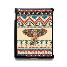 Aztec Elephant TATUM-1249 Apple Phonecase Cover For Ipad 2/3/4, Ipad Mini 2/3/4, Ipad Air, Ipad Air 2