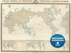 Best Digital World Maps Images On Pinterest Maps Art Print And - High resolution world map for printing