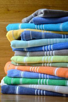 Fringeless Turkish bath towels
