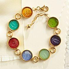 Italian Intaglio Glass Bracelet