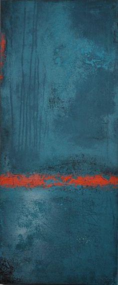 abstrakte Acrylmalerei, Unikat, Original,95x40cm von Kunst & Design Werkstatt auf DaWanda.com