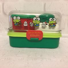Vintage-Sanrio-Kero-Keroopi-Lunch-Box-Set-1990
