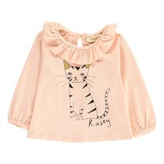 Tulip Cat Ruffled Organic Cotton T-Shirt Soft Gallery Baby- A large selection of Fashion on Smallable, the Family Concept Store - More than 600 brands.