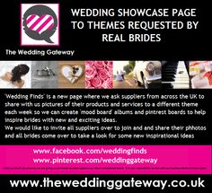 find contact details for the suppliers of all pictures at www.facebook.com/weddingfinds