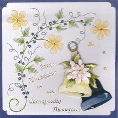 Bloemenrank met klokken