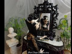 One of a Kind  Gothic Rococo Vanity Set for by ShariDeppDesigns, $199.00