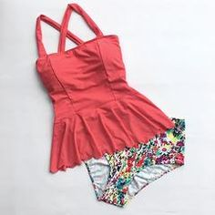 Cupshe Dasiy Does It High-waisted Falbala Bikini Set - XXL