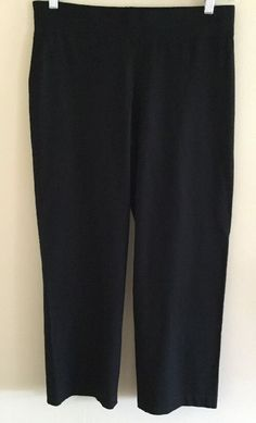 Eileen Fisher Pointe Knit Pants Leggings PM Elastic Waist Stretch Pants  | eBay