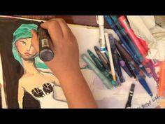 Art journaling with Jane Davenport