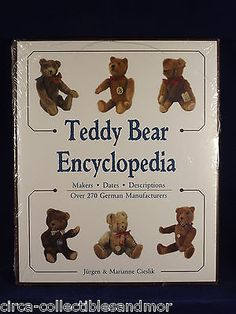 New Teddy Bear Encyclopedia Book Collector Guide History Steiff Schuco Sealed