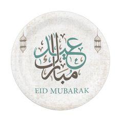 Shop Eid Mubarak / Ramadan Greetings Paper Plate created by GPS_APPAREL. Eid Mubarak Stickers, Eid Stickers, Eid Wallpaper, Flower Phone Wallpaper, Eid Crafts, Ramadan Crafts, Eid Card Designs, Eid Images, Mubarak Ramadan