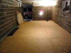 Pose du plancher OSB 22 mm - Création de mon local de répétition