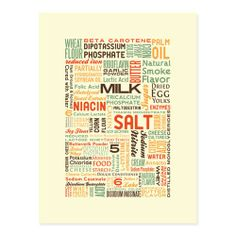 hand-pulled silk screen poster of Hot Pockets Ingredients