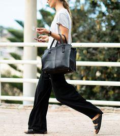 Birkenstocks  loose trousers are comfy alternative looks for summer // Photo: Adam Katz Sinding of Le 21ème