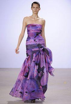 Matthew Williamson purple shimmer dress