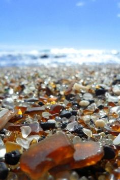 Glass Beach, Kauai, Hawaii... Bring me back some!! ^_^ I still have some from my trip but I'll make you a piece of jewelry!