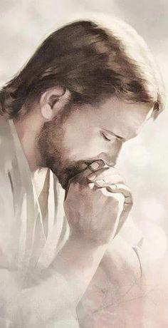 Deep in prayer Pictures Of Jesus Christ, Jesus Christ Images, Religious Pictures, Religious Art, Jesus Our Savior, Jesus Lives, God Jesus, Jesus Artwork, Image Jesus
