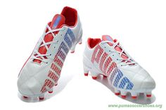 Mens Puma evoSPEED 1.2 K FG White/Red Kangaroo skin Indoor Soccer Shoes