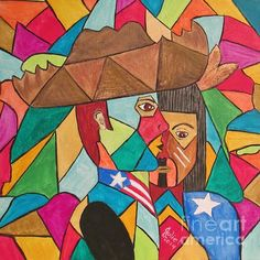 Painting by Julie Crisan depicts the Jíbaro culture and its origin -  the Native Taino culture. Painting is available for sale.  Visit www.artbyjuliec.com for additional information.