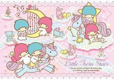 【2011】【Blue Unicorn】96-piece Puzzle (Manufacturer: Yanoman) ★Little Twin Stars★