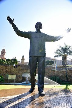 Nelson Mandela Statue, Union Buildings, Tshwane, Pretoria, Gauteng, South Africa   by South African Tourism Pretoria, Nelson Mandela, Apartheid Museum, Time For Africa, South Afrika, Black History Facts, Winter Wonderland Wedding, Kruger National Park, Busy City