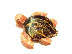 Miniature Turtle Sea Turtle Heady Glass Handmade #art #gifts #turtle #glassart #handmade #seaturtle #heady #etsyseller #bestofetsy #boro #borosilicate #sale