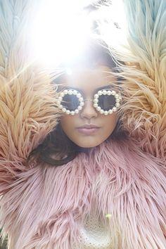 sunglasses and faux fur