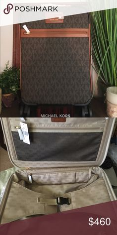 b0f7c8b27c3c NWT MICHAEL KORS Brown Logo Trolly suitcase Brand new with tags! Sold out  in stores. Browning LogoMichael Kors BagTravel BagsSuitcaseShipsMichael ...