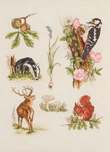 Woodland Collection Counted Cross Stitch Kit  Price: £20.41