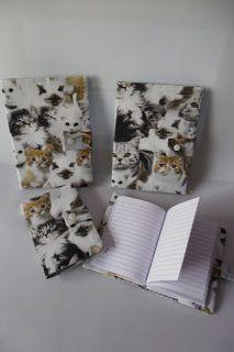 Artesanato da Sara: Livros de Anotações com capa em Tecido