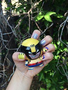 Adorable Nerd Nail Wraps! Wolverine's adamantium nails by Nailed It! 6 Nerdy Chicks | BAMF Beauty: Espionage Cosmetics