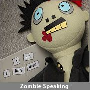 Zombie Magnetic Poetry Kit at Think Geek---Make your own or buy for $11.99