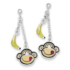 14k Gold Small Monkey Pendant   MonkeyGifts.net