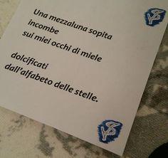 Nella foto una poesia del progetto ''Cappottini poetici''.