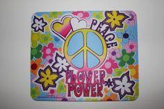 tapis de souris peace and love - LEGOUBEY - - Arromanches Souvenirs