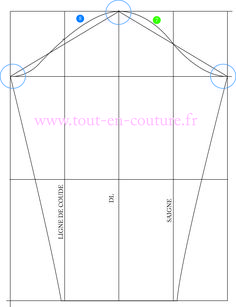 patron de la manche Techniques Couture, Sewing Techniques, Sewing Patterns Free, Free Sewing, Sewing Hacks, Sewing Projects, Sewing Sleeves, Costumes Couture, Sewing Shirts
