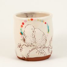 Love Birds cup, 14 fl oz - Ayumi Horie Pottery Store