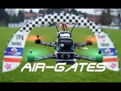 FPV Racing Air Gate Test + Rear Light - YouTube