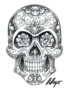 Sugar Skull Sketch 5 Pack of Stickers – skull tattoo sleeve Skull Candy Tattoo, Mexican Skull Tattoos, Candy Skulls, Mexican Skulls, Life Tattoos, Body Art Tattoos, Hand Tattoos, Sleeve Tattoos, Tattoos For Guys