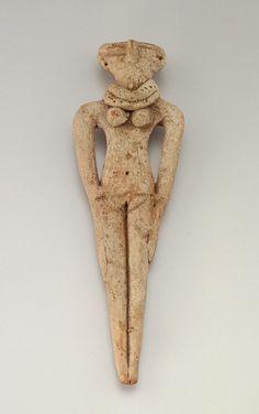 FEMALE FIGURINE ca. 1630-1539 B.C.E. - Second Intermediate Period - Dynasties 15 to 18 - Terracotta - Egypt