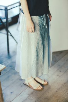 Babaghuri: Ombre Printing Skirt with Trousers