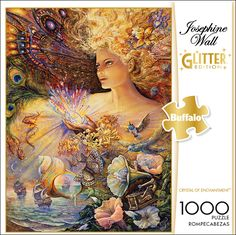 Josephine Wall Crystal of Enchantment Glitter Edition 1000 Piece Jigsaw Puzzle - Buffalo Games Celtic Dragon, Celtic Art, Puzzle Shop, Buffalo Games, Josephine Wall, Islamic Art Calligraphy, Calligraphy Alphabet, Fantasy Paintings, Puzzle Pieces