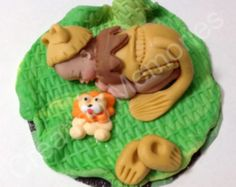 Lion Baby Fondant Cake Topper for BABY SHOWER, First Birthdays, or any other celebration/ Cake decorations made of vanilla fondant