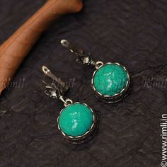 A western style turquoise earrings in bluish green. . Shop this online at www.rimli.in Drop in by our store at T.Nagar, Chennai for more designs. Whatsapp your queries to +91 9841640771. . #rimli #chennai #jewels #rimlichennai #Jewellery #JewelleryLove #FashionJewellery #TraditionalJewellery #LimitedEdition #ReelItFeelIt#JewelryDesigner #JewelleryDesigner #JeweleryAddict #InstaJewelry #HandcraftedJewellery #jewelsofinstagram #accessories #turquoise #earrings Oxidised Jewellery, Turquoise Earrings, Indian Jewelry, Handcrafted Jewelry, Jewelery, Women Accessories, Fashion Jewelry, Jewelry Design, Western Style