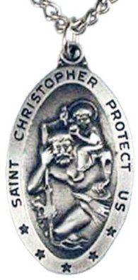 "St. Christopher Charms, 24""stainless Steel Necklace Chain - $12.95 (SAVE 67%)  http://astore.amazon.com/lucysjewels-20/detail/B001TI4KLC"