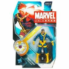 """Marvel Universe 3 3/4 Inch Series 13 Action Figure Cyclops Jim Lee Version by Hasbro. $19.99. For Ages 4 & Up. Cyclops is figure #10 from Marvel Universe Series 3. Comes with a stand & weapon accessory and a S.H.I.E.L.D. file with secret code. Marvel Universe 3 3/4"""" action figure from Hasbro. The heroes and the villains of the Marvel Universe make the leap from the comic books to your action figure collection with these allnew Marvel Universe Action Figures! Each fi..."""