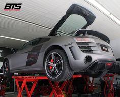 Audi R8 V10 teve upgrades e sistema de escape especial  #Audi #R8 #V10 #Batistinha #BTS #BTSPerformance
